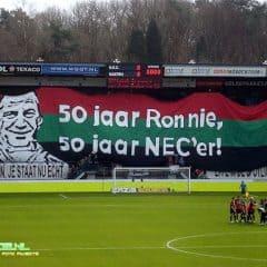 NEC – Feyenoord, Ronnie 50 jaar NEC'er!