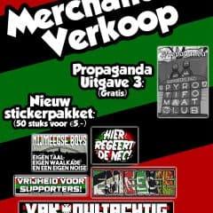Vrijdag merchandise verkoop!